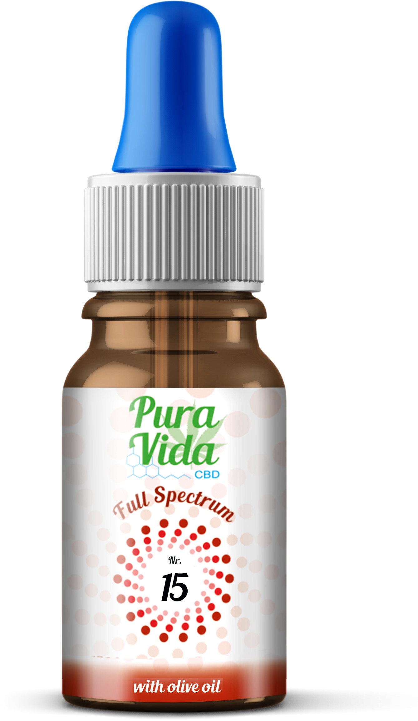 Pura Vida Olivenöl Nr. 15 - 10ml Vollspektrum